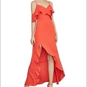 bcbg bright coral dress